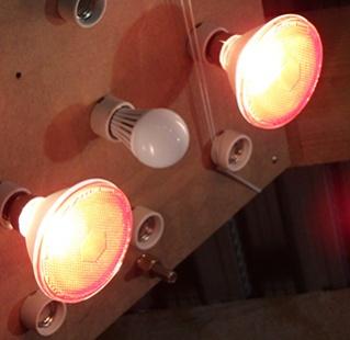 Lumière parabole chauffante